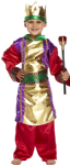 GOLD KING WISE MAN BOYS FANCY DRESS COSTUME
